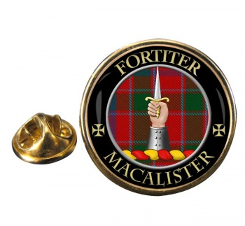 Macalister Scottish Clan Round Pin Badge