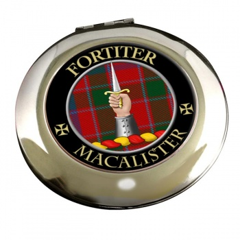 Macalister Scottish Clan Chrome Mirror