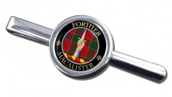 Macalister Scottish Clan Round Tie Clip
