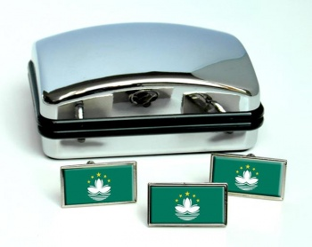 Macau  Flag Cufflink and Tie Pin Set