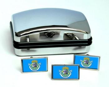 Macau portugues Flag Cufflink and Tie Pin Set