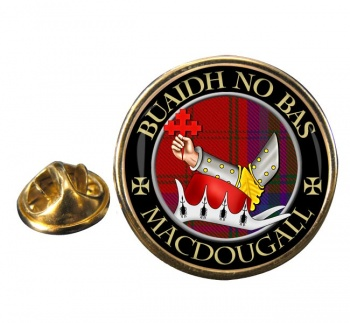 Macdougall Scottish Clan Round Pin Badge