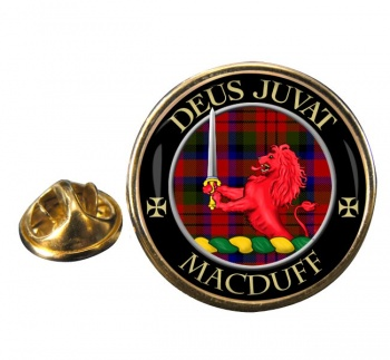 Macduff Scottish Clan Round Pin Badge