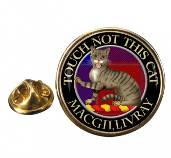 Macgillivray Scottish Clan Round Pin Badge