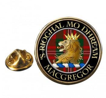 Macgregor Scottish Clan Round Pin Badge