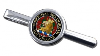 Macgregor Scottish Clan Round Tie Clip