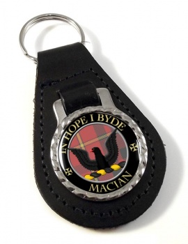 MacIan Scottish Clan Leather Key Fob