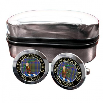 MacInnes Scottish Clan Round Cufflinks