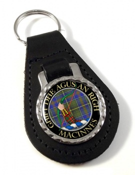 MacInnes Scottish Clan Leather Key Fob