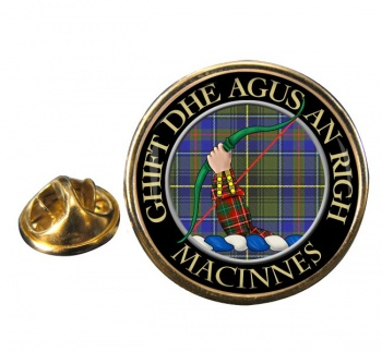 MacInnes Scottish Clan Round Pin Badge