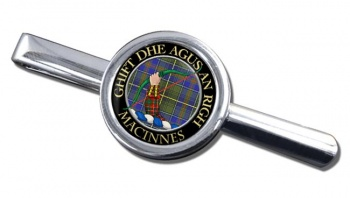 MacInnes Scottish Clan Round Tie Clip