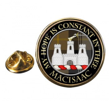 Macisaac Scottish Clan Round Pin Badge