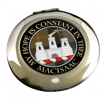 Macisaac Scottish Clan Chrome Mirror