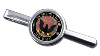 Mackain Scottish Clan Round Tie Clip