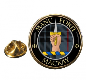Mackay Scottish Clan Round Pin Badge
