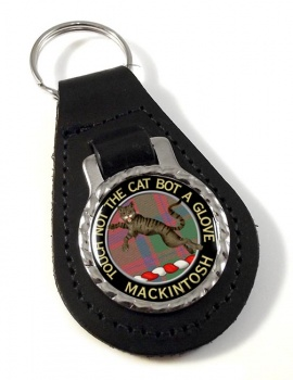 Mackintosh Scottish Clan Leather Key Fob