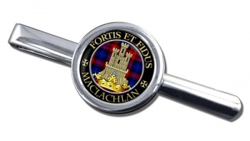 Maclachlan Scottish Clan Round Tie Clip