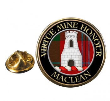 Maclean Scottish Clan Round Pin Badge