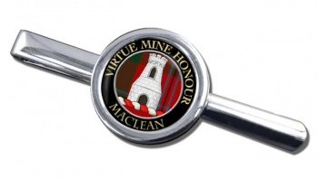 Maclean Scottish Clan Round Tie Clip