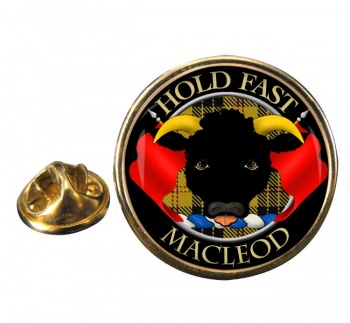 Macleod Scottish Clan Round Pin Badge
