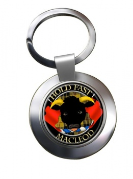 Macleod Scottish Clan Chrome Key Ring