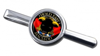 Macleod Scottish Clan Round Tie Clip