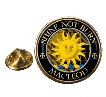Macleod of Lewis (English) Scottish Clan Round Pin Badge