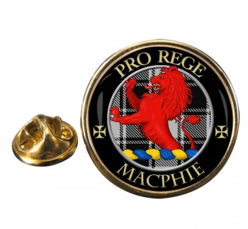 Macphie ancient Scottish Clan Round Pin Badge