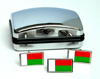 Madagascar Flag Cufflink and Tie Pin Set
