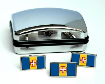 Madeira (Portugal) Flag Cufflink and Tie Pin Set