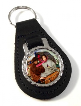 Last of England by Ford Madox Brown Leather Keyfob