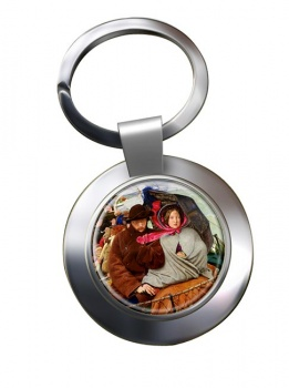Last of England by Ford Madox Brown Chrome Key Ring