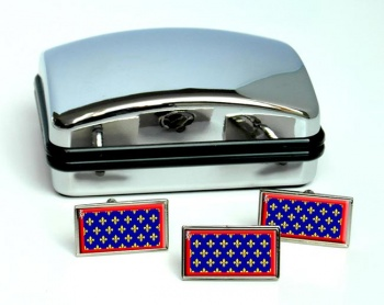 Maine (France) Flag Cufflink and Tie Pin Set