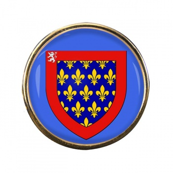 Maine (France) Round Pin Badge