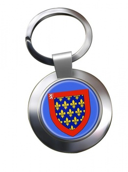 Maine (France) Metal Key Ring
