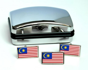 Malaysia Flag Cufflink and Tie Pin Set