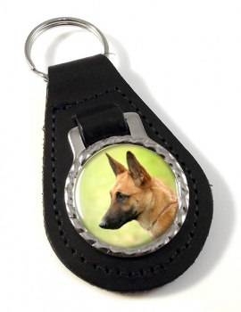Belgian Shepherd Dog (Malinois) Leather Key Fob