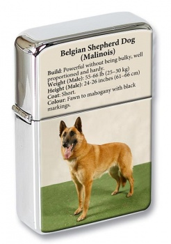 Belgian Shepherd Dog (Malinois) Flip Top Lighter