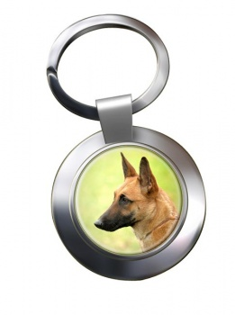 Belgian Shepherd Dog (Malinois) Metal Key Ring