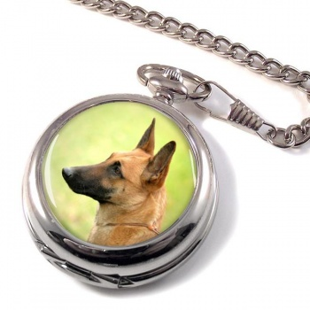 Belgian Shepherd Dog (Malinois) Pocket Watch