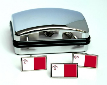 Malta Flag Cufflink and Tie Pin Set