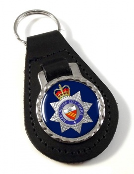 Manchester City Police Leather Key Fob