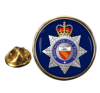 Manchester City Police Round Pin Badge