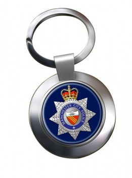 Manchester City Police Chrome Key Ring