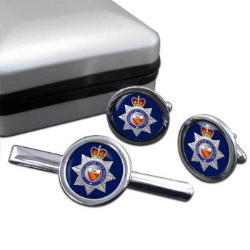 Manchester City Police Round Cufflink and Tie Clip Set