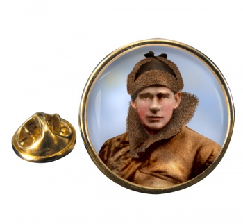 Edward Mick Mannock Round Pin Badge