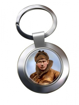 Edward Mick Mannock Chrome Key Ring