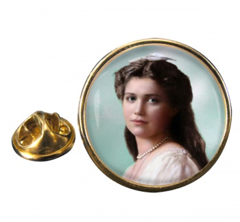 Grand Duchess Maria Nikolaevna Round Pin Badge