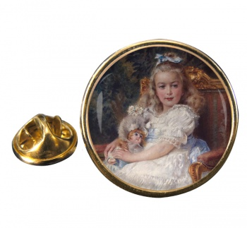 Marie Antoinette Round Pin Badge