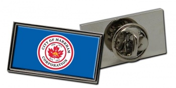 Markham (Canada) Flag Pin Badge